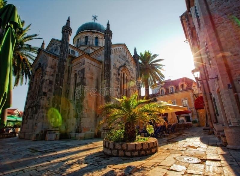 A igreja em Herceg Novi imagem de stock