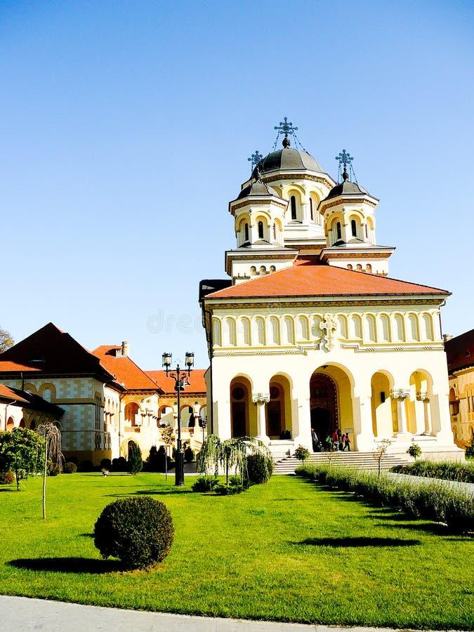 Igreja em Iulia alba, Romania da reunificação fotos de stock royalty free