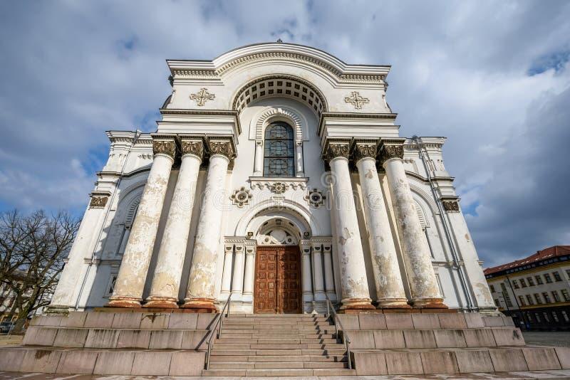 Igreja em Kaunas, Lithuania fotos de stock