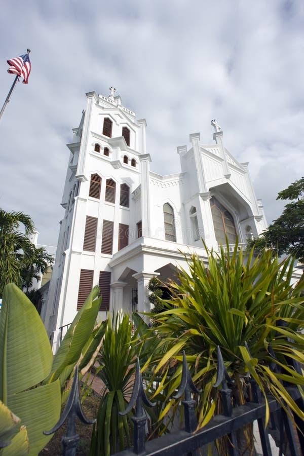 Igreja em Key West fotografia de stock