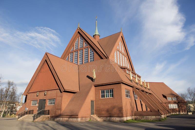 Igreja em Kiruna fotografia de stock royalty free