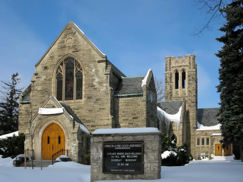 Igreja em Kitchener, Canadá fotos de stock royalty free
