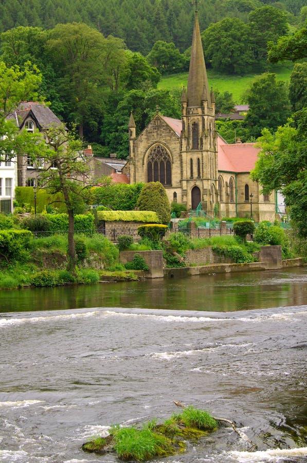 Igreja em Llangollen, Reino Unido imagens de stock royalty free