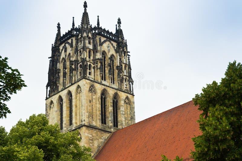 Igreja em Münster em Westphalia, Alemanha imagens de stock royalty free