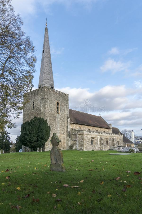 Igreja em Malling ocidental, Kent, Reino Unido imagens de stock royalty free
