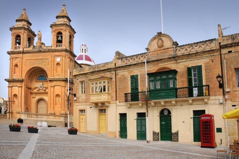 Igreja em Marsaxlokk fotografia de stock royalty free