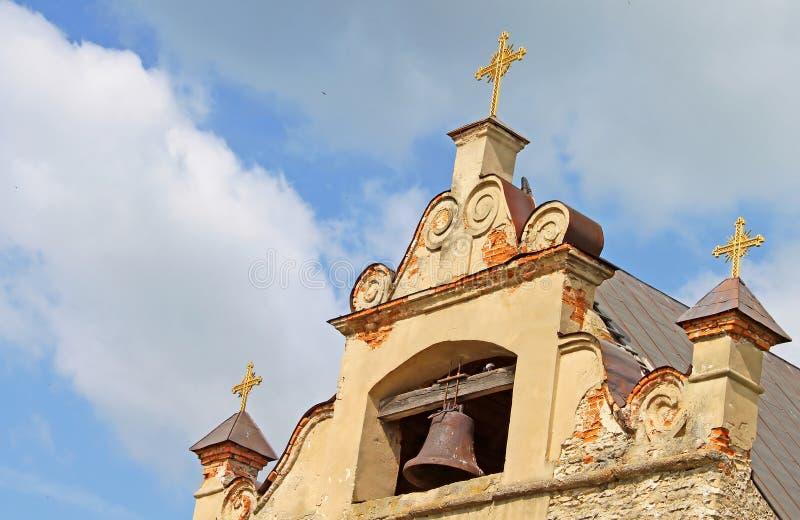 Igreja em Medzhibozh, Ucrânia foto de stock