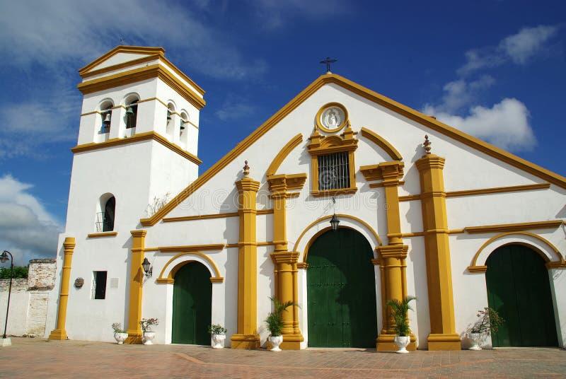 Igreja em Mompos, Colômbia imagens de stock royalty free
