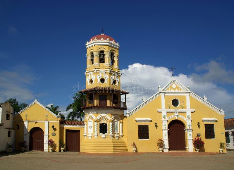 Igreja em Mompos, Colômbia foto de stock