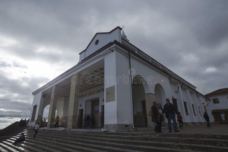 Igreja em Monserrate, ¡ de BogotÃ, Colômbia imagens de stock