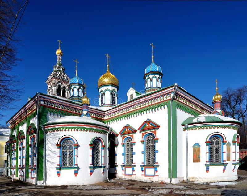 Igreja em Moscovo imagens de stock