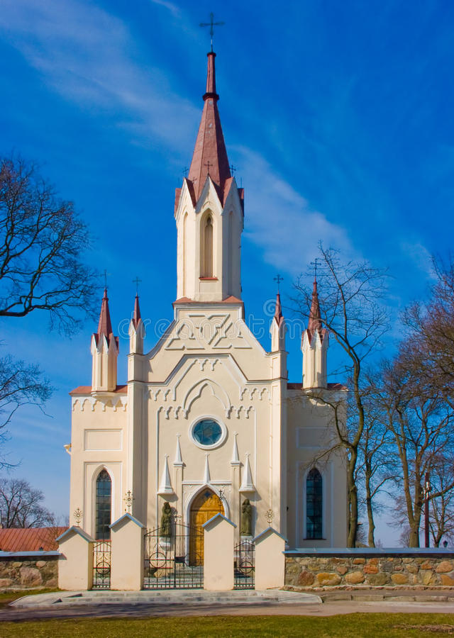 Igreja em Musninkai fotos de stock