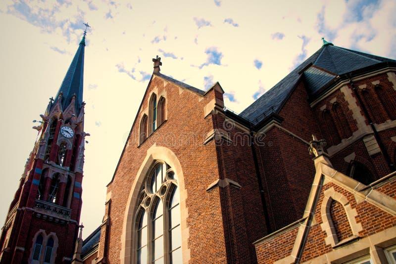 Igreja em Naperville, Illinois fotos de stock