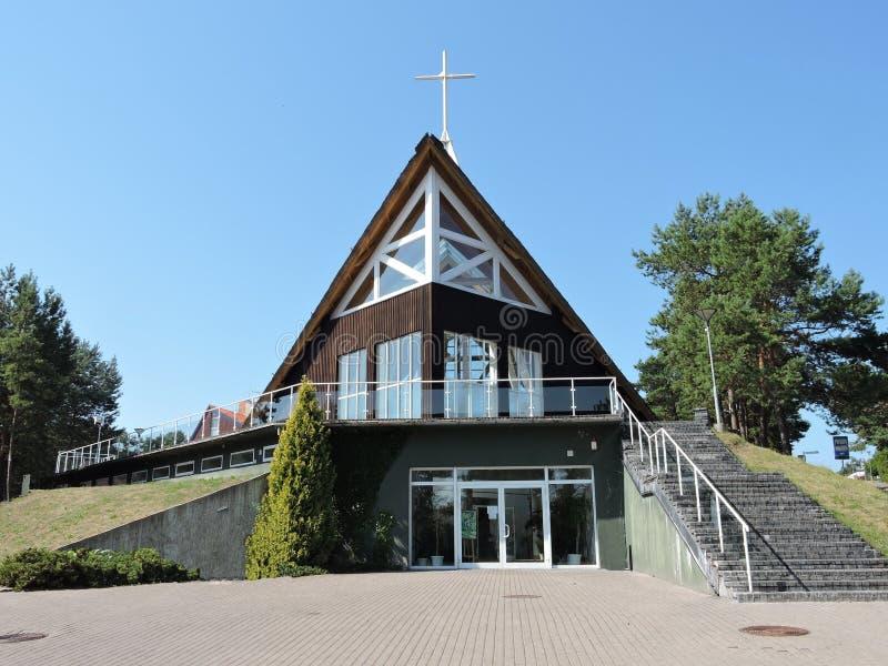 Igreja em Nida, Lituânia imagem de stock