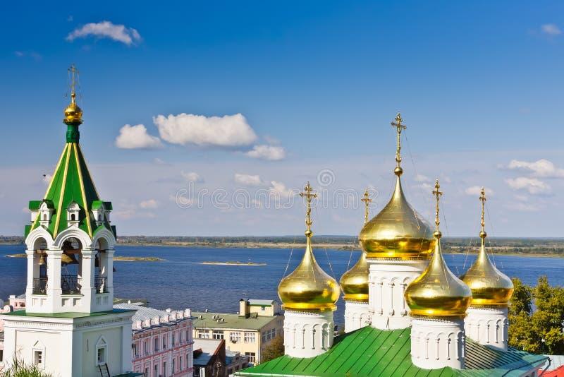 Igreja em Nizhny Novgorod, Rússia fotografia de stock