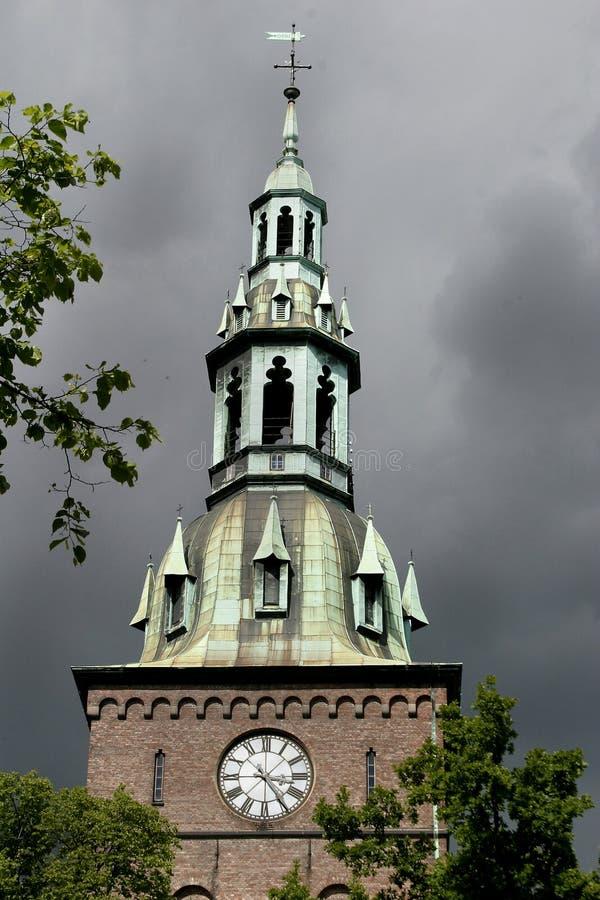 Igreja em Noruega fotografia de stock royalty free