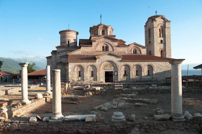Igreja em Ohrid, república Macedónia do St Panteleymon fotos de stock royalty free