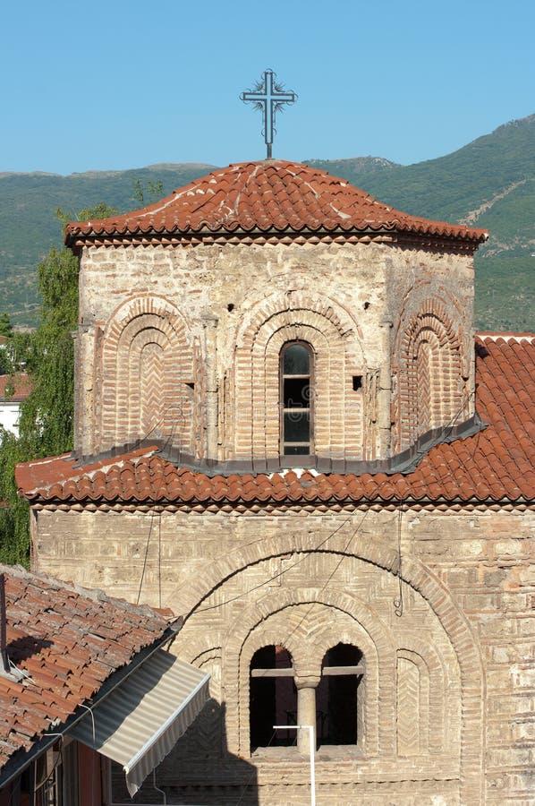 Igreja em Ohrid, república Macedónia do St Sophia fotos de stock