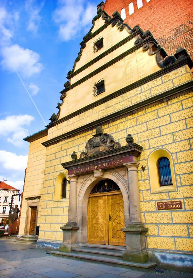 Igreja em Olesnica, Poland imagens de stock royalty free