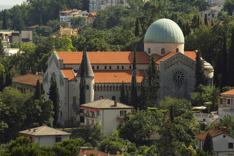Igreja em Opatija, Croatia fotografia de stock