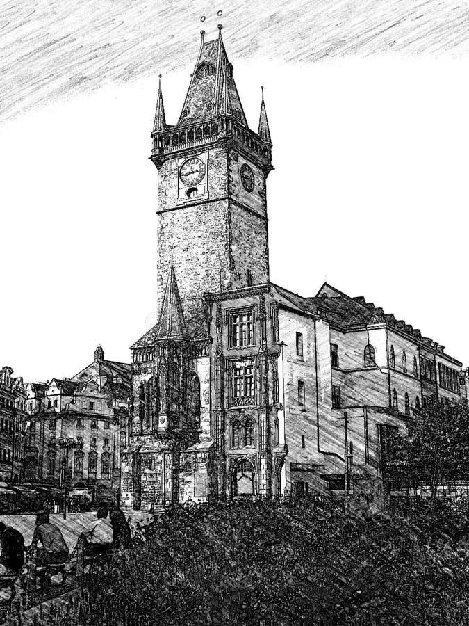 Igreja em Praga fotografia de stock royalty free