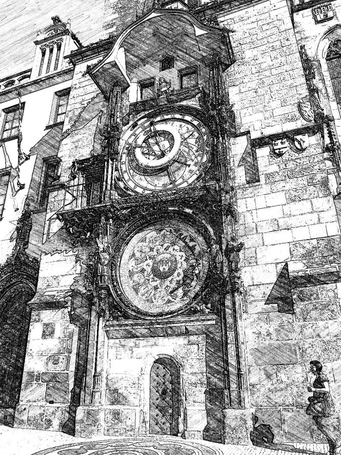 Igreja em Praga imagem de stock