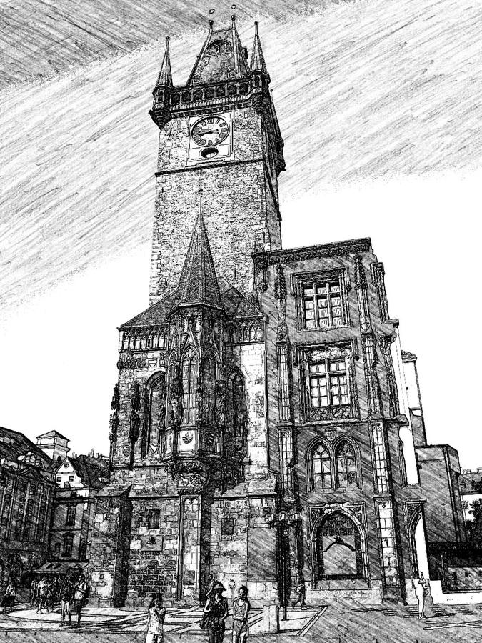 Igreja em Praga fotografia de stock