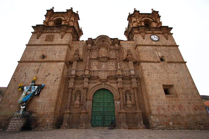 Igreja em Puno, Peru fotos de stock royalty free