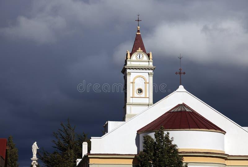 Igreja em Punta Arenas fotografia de stock royalty free