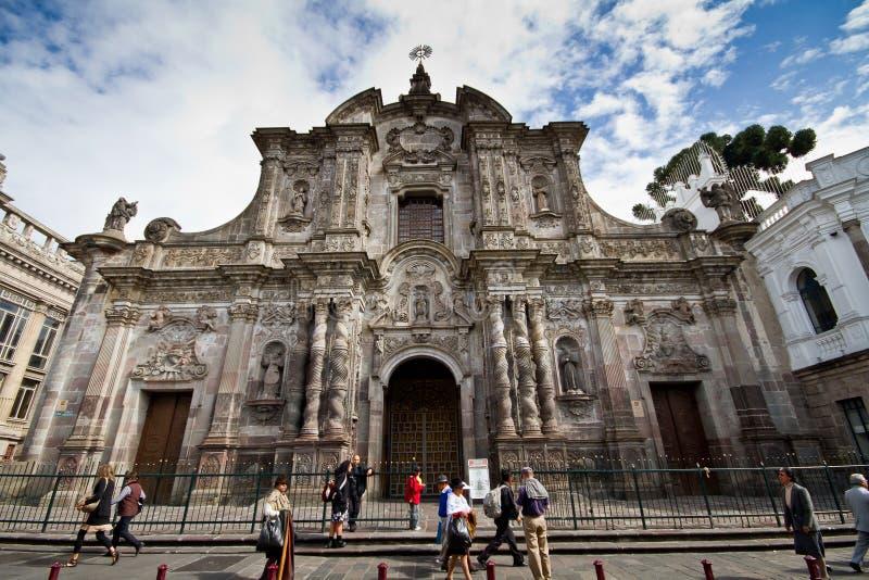 Igreja em Quito, Equador de Compania do La foto de stock royalty free