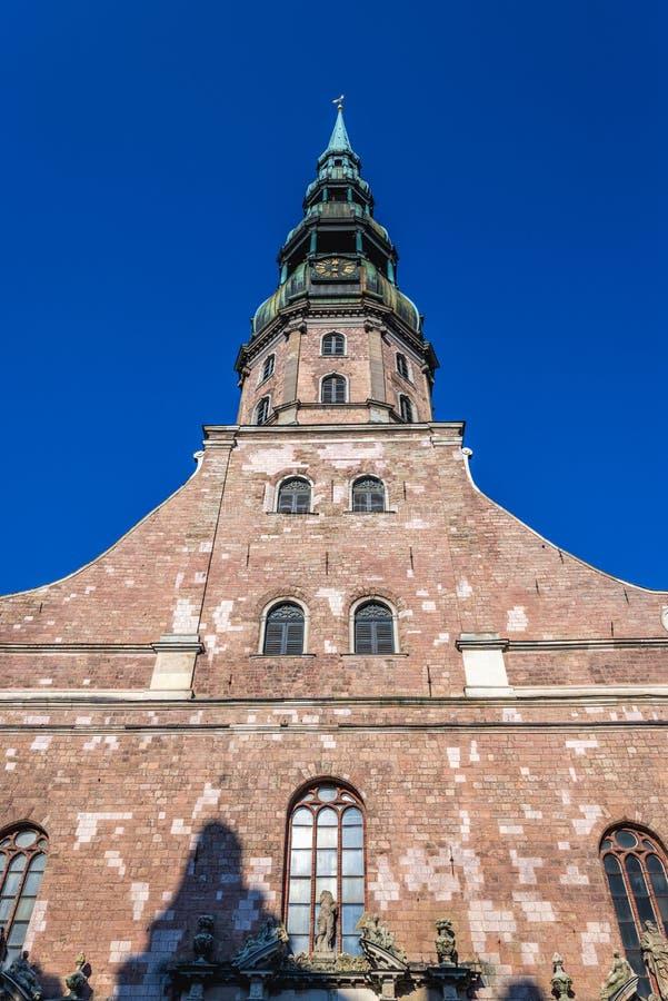Igreja em Riga imagens de stock royalty free