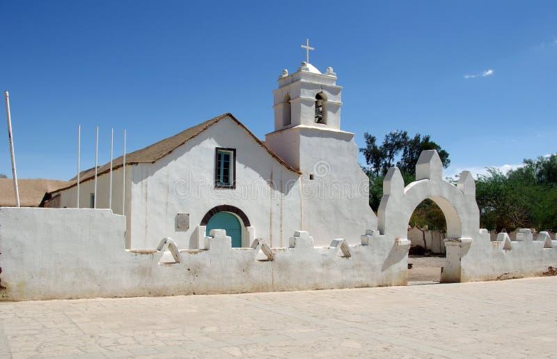 Igreja em San Pedro de Atacama - Chile imagens de stock