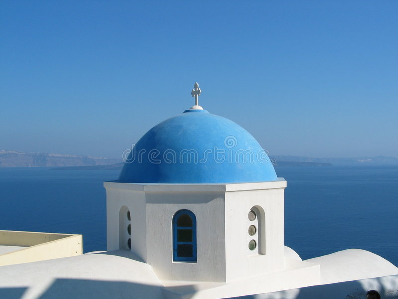 Igreja em Santorini fotos de stock royalty free