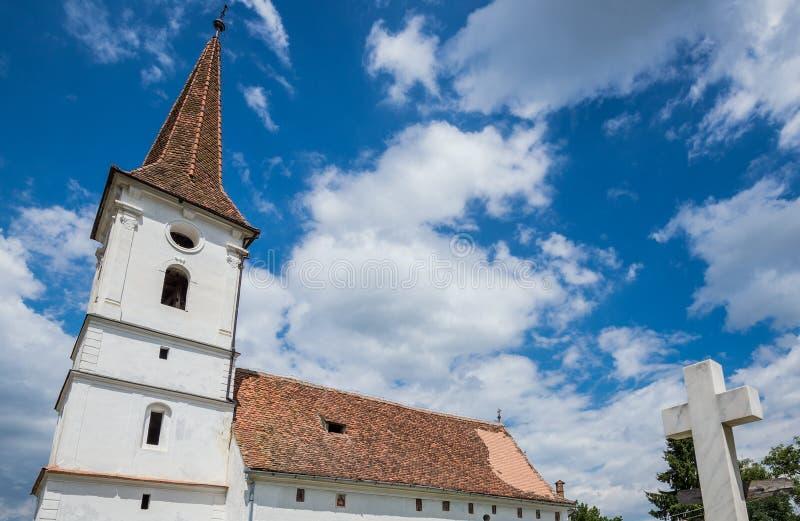 Igreja em Sibiel imagens de stock royalty free
