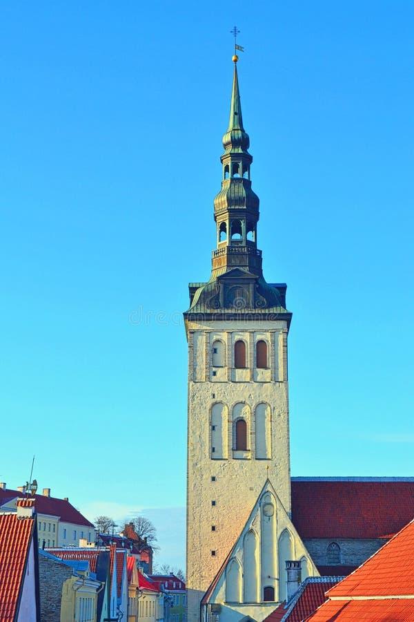 Igreja em Tallinn foto de stock