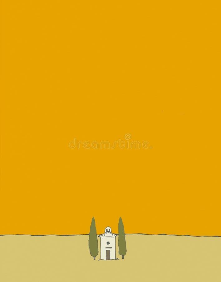 Igreja em Toscânia ilustração do vetor