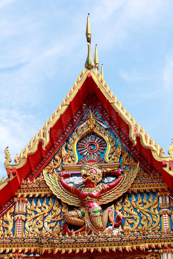 Igreja em Ubosot tailandês imagem de stock royalty free