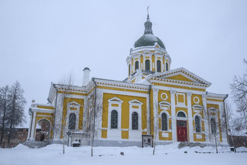 Igreja em um Kremlin em Zaraysk imagens de stock