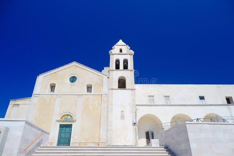 Igreja em Vieste, Itália imagens de stock royalty free