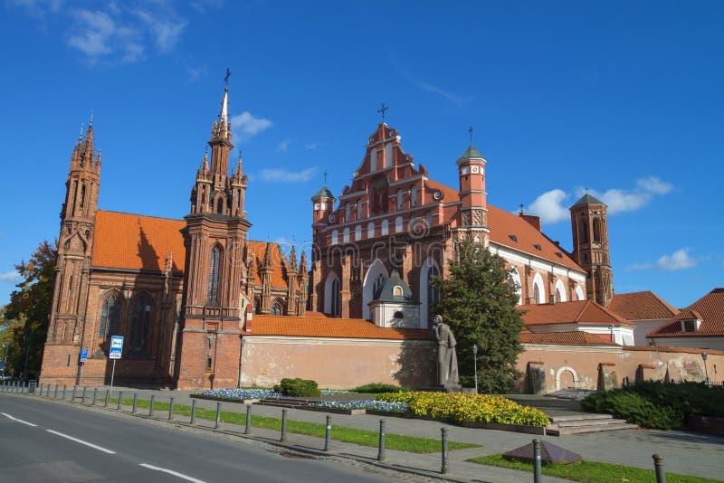 Igreja em Vilnius, Lithuania imagens de stock
