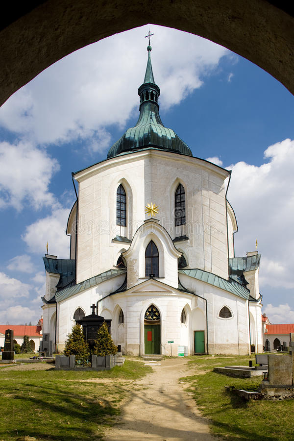 Igreja em Zelena Hora imagens de stock