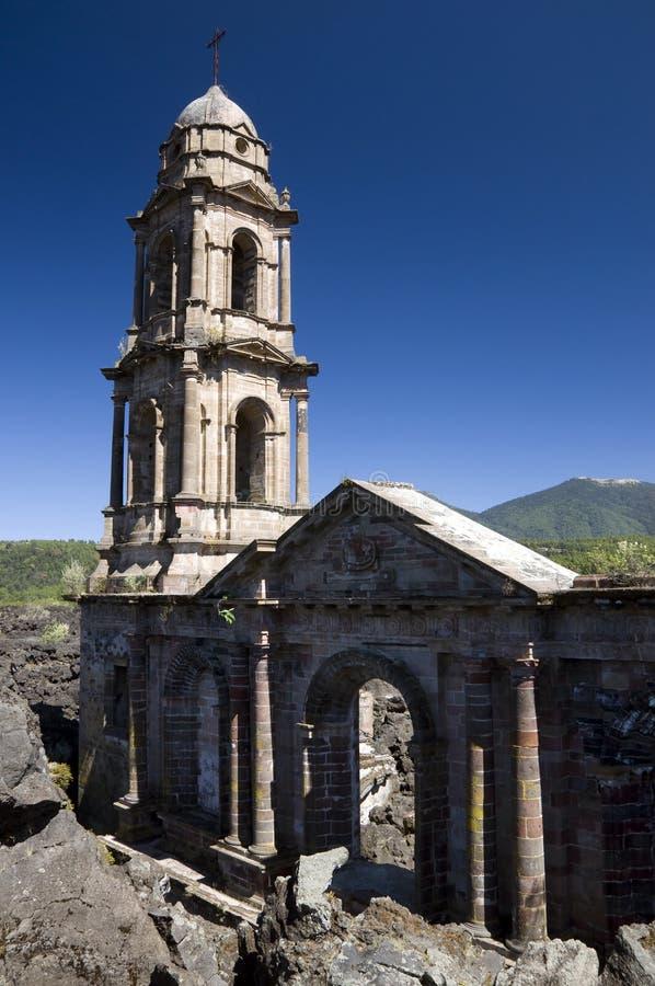Igreja enterrada, México fotografia de stock