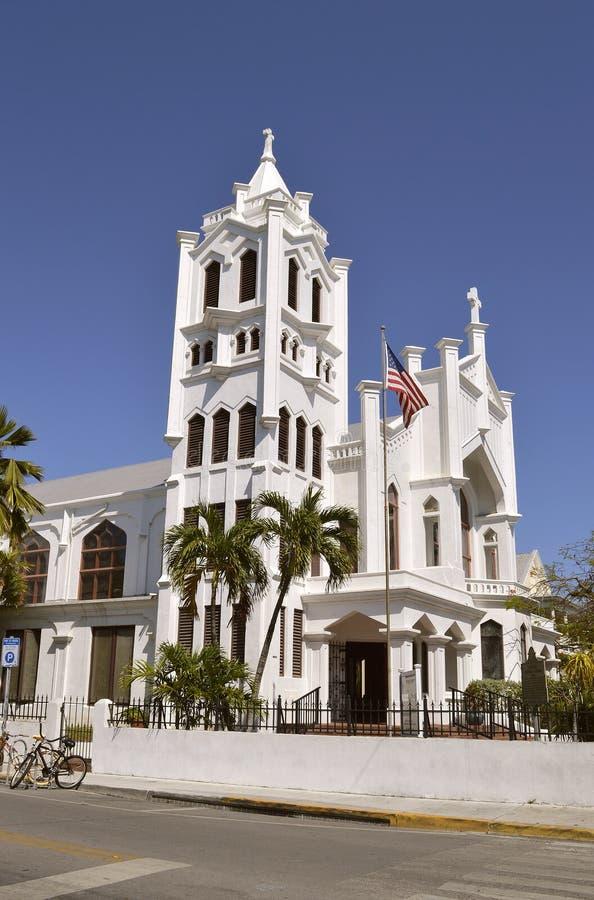 Igreja episcopal do ` s de Key West St Paul foto de stock royalty free