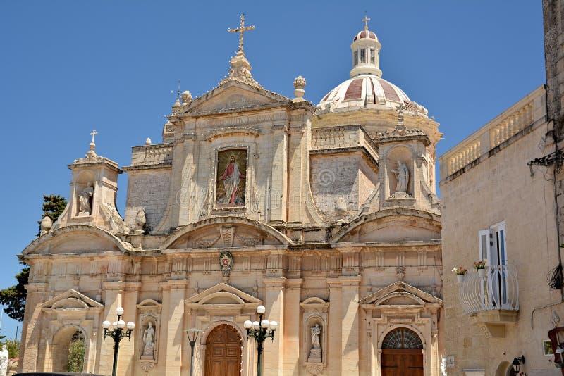Igreja escolar de St Paul, Rabat imagens de stock