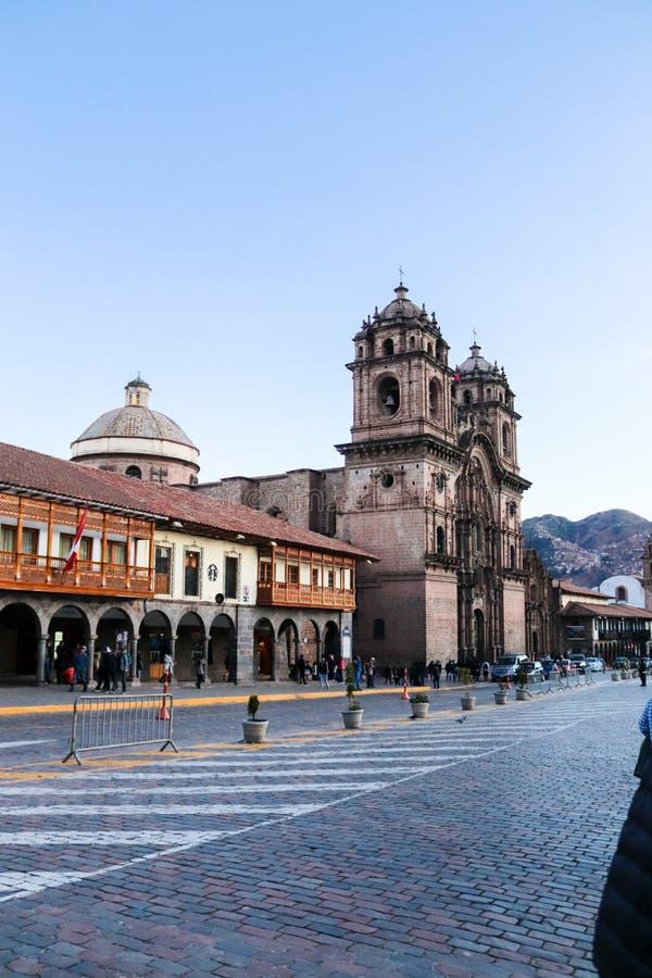 Igreja espanhola velha em Cusco imagem de stock royalty free