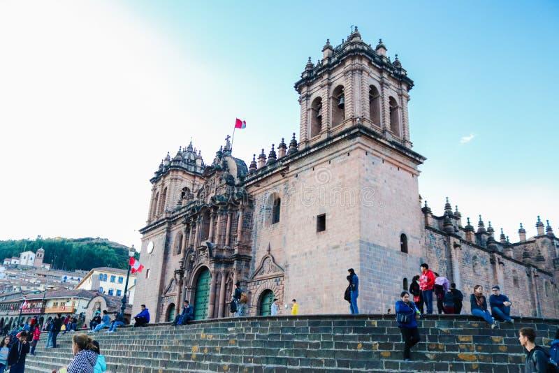 Igreja espanhola velha em Cusco foto de stock