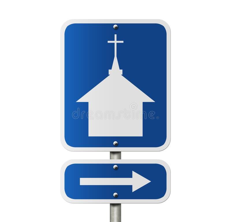 Igreja esta maneira ilustração stock