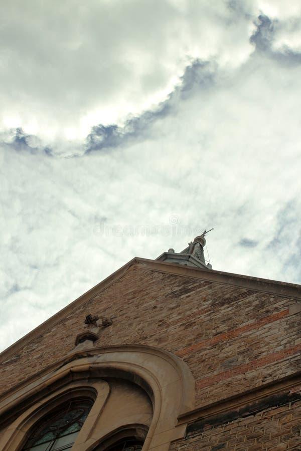 Igreja evangélica detalhe fotografia de stock royalty free