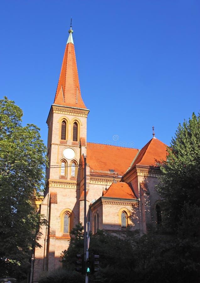 Igreja evangélica, Zagreb fotos de stock royalty free