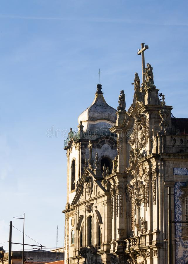 Igreja fa la vista laterale di Carmo fotografie stock